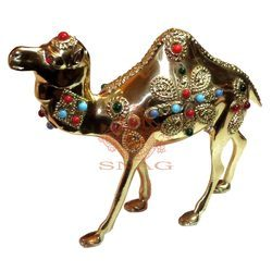 Brass Stone Work Camel