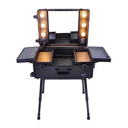 Makeup Trolly Case With LED Bulb
