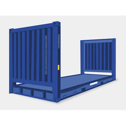 20 Feet Flat Rack Shipping Container