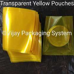 Yellow Transparent Polyester Laminated Pouches