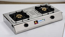 ISI Marked 2 Burner SS LPG Gas Stove