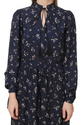 Womens Blue Floral Tie Up maxi