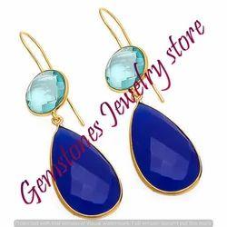 Blue Chalcedony Earring
