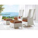 Wicker Designer Chair Set
