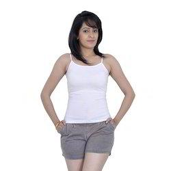 Letizia White Women's 100% Cotton Camisole
