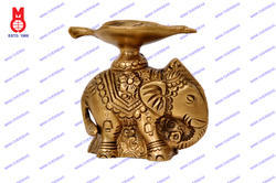 Oil Lamp Leaf Shape On Elephant