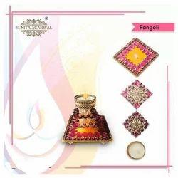 LED Rangoli with Candle