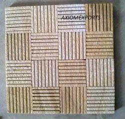 Teak Wood Sandstone Shot Blasted Surface Mosaic Tile