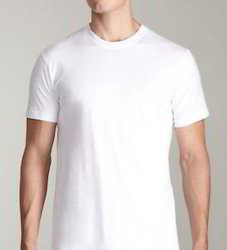 120 GSM White Color Round Neck Cotton T Shirts