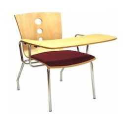 Wooden Writing Arm Chair