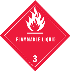 DOT Flammable Liquid Shipping Labels