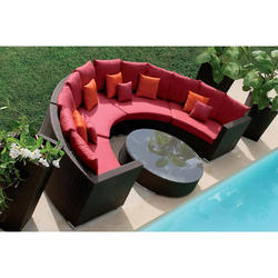 Wicker Round Sofa