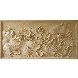 Flower Art CNC Curved Sandstone