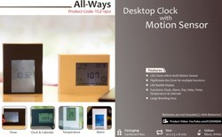 Desktop Clock with Motion Sensor