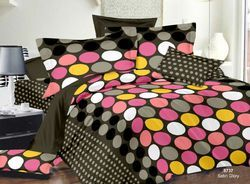 Always Plus Green, Red, Blue, Circle Cotton Double Bedsheet
