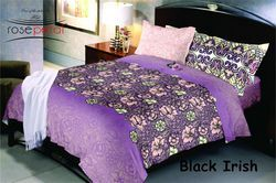 Black Irish Bed Sheets RosePetal