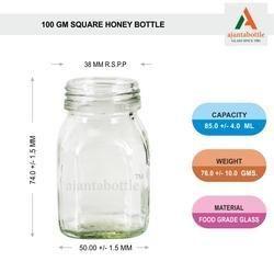 100 Gms Square Fancy Jar