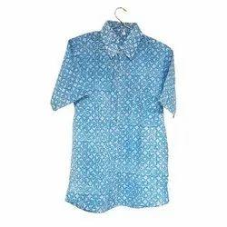 BR Enterprises Collar Neck Floral Cotton Shirt