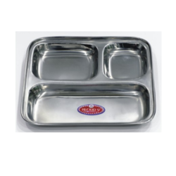 SS Square Compartment Tray