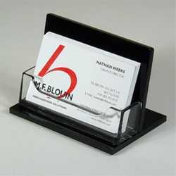 Acrylic business card holder manufacturer from new delhi acrylic visiting card holder get best quote reheart Gallery