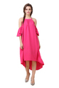 Pink Free Size High-Low Dress for Summer