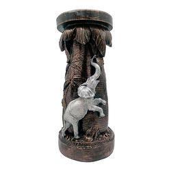 Brass Look Elephant Table Statue/Showpiece Decorative Gift