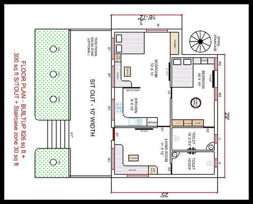 Building plan drawing in chennai