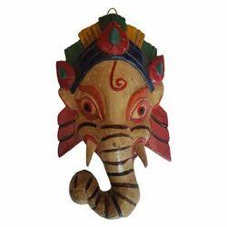 Wooden Ganesh Mask Hanger