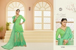 Designer Sarara Suit In Green