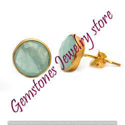 Tiger Eye Gemstone Ear Stud