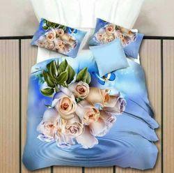 3D Floral Bed Sheet