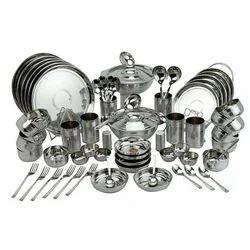 Stainless Steel Dinner Set 51 Pcs