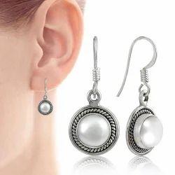 Sterling Silver Pearl Earrings