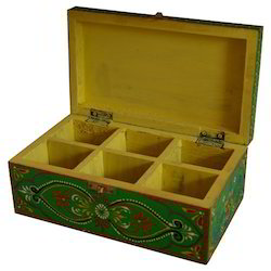 Wooden Painted Block Box
