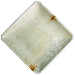 9.5 Inch Square Areca Leaf Plate