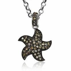 Fantasy 925 Sterling Silver Diamond Pendant