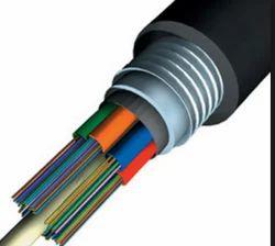 Armoured Fiber Optic Cable, 8 Core, SM, Unitube