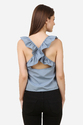 Designer Ruffle Back Criss Cross Top