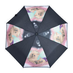 3 Fold Auto Open Cat Design Umbrella
