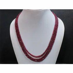 Ruby Gemstone Beaded Necklace