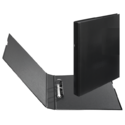 Black Leather Simple Book Style Ring Binder