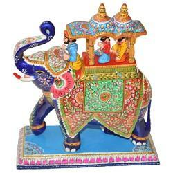 Meena Ambabadi Elephant With Sawari Work