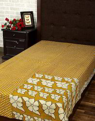 Designer Polka Dot Vintage Kantha Work Throw Blanket