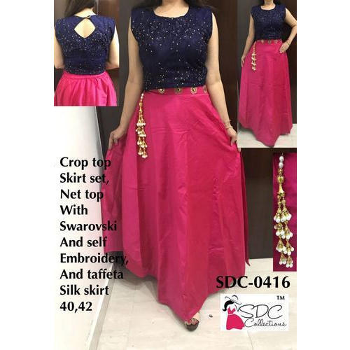 ac9abaf03a846 Crop Top Ladies Suits - Crop Top Skirt Set Manufacturer from New Delhi