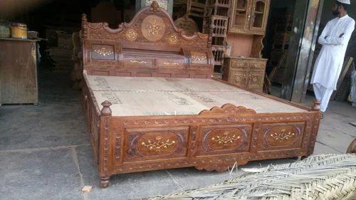 Wooden Bad Wooden Bed Manufacturer From Firozabad