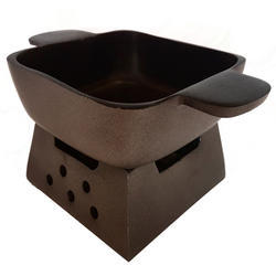 Teflon Coated Square Dish with Warmer