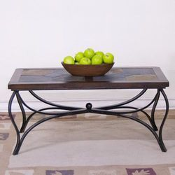 Wrought Iron Cane Table