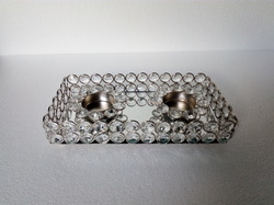 Beautiful Aluminium Crystal Candle Holder