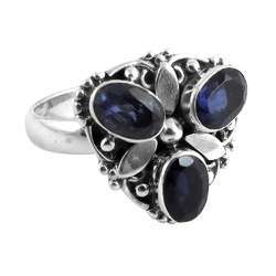 Fine Iolite 925 Sterling Silver Ring