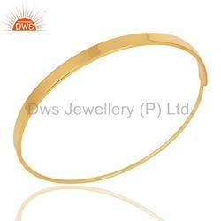 925 Sterling Silver Gold Plated Bangle